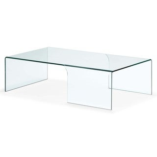 Zuo Sabbatical Clear Glass Coffee Table