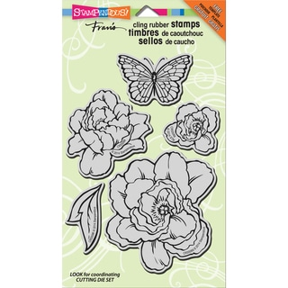 Stampendous Jumbo Cling Rubber Stamp 7inX5in Sheet-Lovely Garden