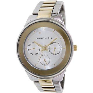 Anne Klein Women's AK-1417SVTT Two-tone Stainless Steel Analog Quartz Watch with Silvertone Dial