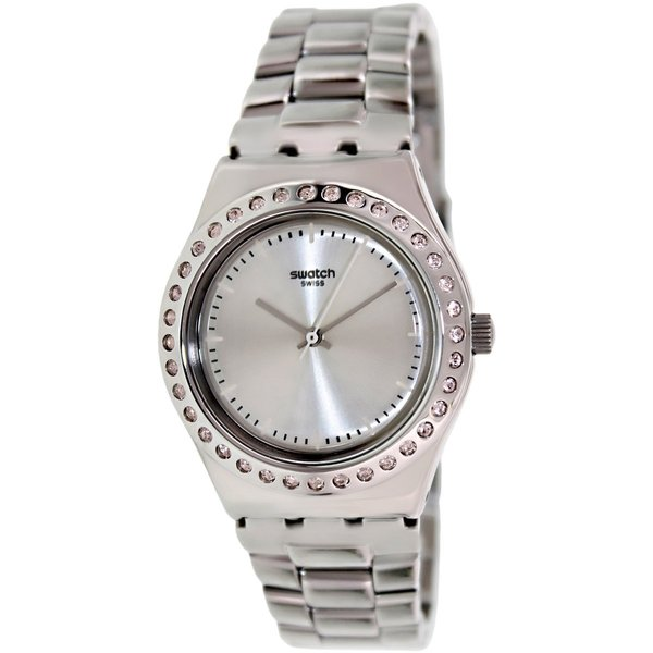 Swatch Women's Irony YLS172G Silvertone Stainless Steel Swiss Quartz Watch with Silvertone Dial