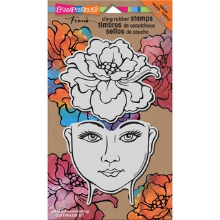 Stampendous Jumbo Cling Rubber Stamp 7inX5in Sheet-Blossom Beauty