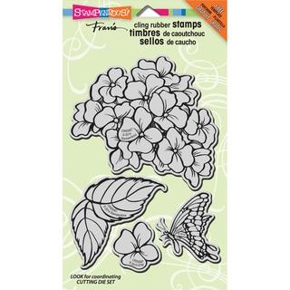 Stampendous Jumbo Cling Rubber Stamp 7inX5in Sheet-Hydrangea Garden