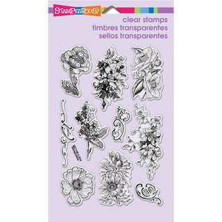 Stampendous Perfectly Clear Stamps 4inX6in Sheet-Frantage Flowers