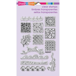 Stampendous Perfectly Clear Stamps 4inX6in Sheet-Penpattern Seaside