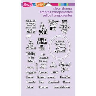 Stampendous Perfectly Clear Stamps 4inX6in Sheet-Royal Heart Quotes