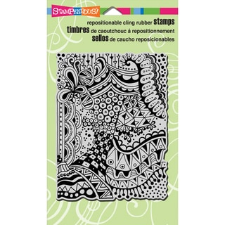 Stampendous Cling Rubber Stamp 4inX6in Sheet-Penpattern Dark