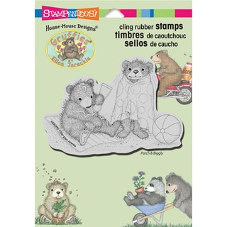 Stampendous Gruffies Cling Rubber Stamp 5.5inX4.5in Sheet-Beachy Bears