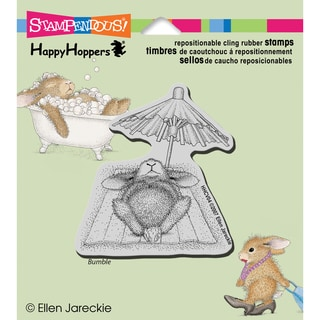 Stampendous Happyhopper Cling Rubber Stamp 4inX3.5in Sheet -Umbrella Nap