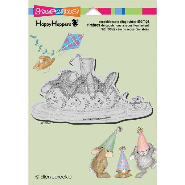 Stampendous Happyhopper Cling Rubber Stamp 5.5inX4.5in Sheet-Inner Tube Nap