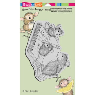 Stampendous House Mouse Cling Rubber Stamp 4inX6in Sheet-Practice Abc's