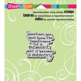 Stampendous Cling Rubber Stamp 3.5inX4in Sheet-Moment Memory