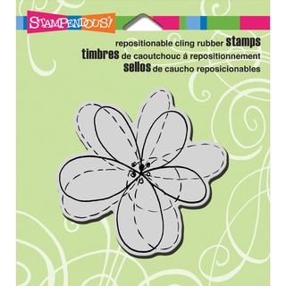 Stampendous Cling Rubber Stamp 3.5inX4in Sheet-Penpattern Flower