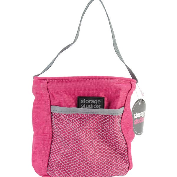 Storage Studios Tiny Tote-6.75inX6.75inX6.25in Pink & Gray