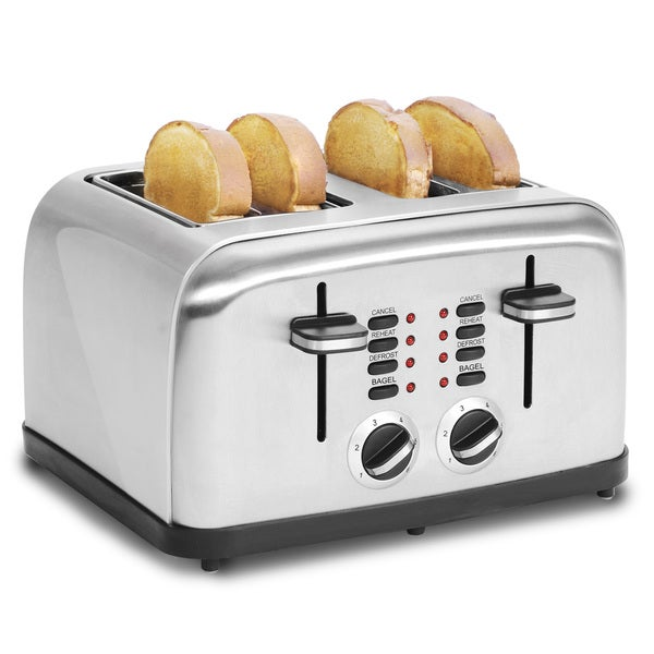 Multi-function Stainless Steel 4 Slice Toaster