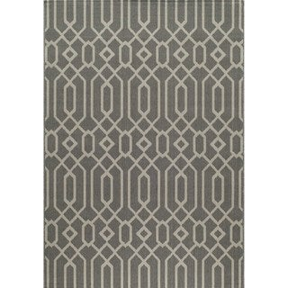 Indoor/ Outdoor Grey Links Rug (8'6 x 13')