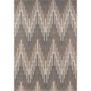 Indoor/ Outdoor Ivory Ikat Rug (7'10 x 10'10)