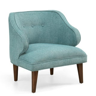 Retro Curved Aqua Arm Chair