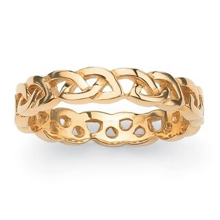 PalmBeach Love Knot Band in Gold Ion-Plated Stainless Steel Tailored