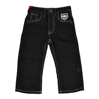 Coogi Toddler Boy's Black Denim Pant with Red / White Stitching