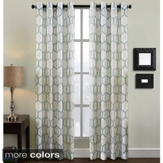 Grafton Geometric Print Grommet Top Curtain Panel