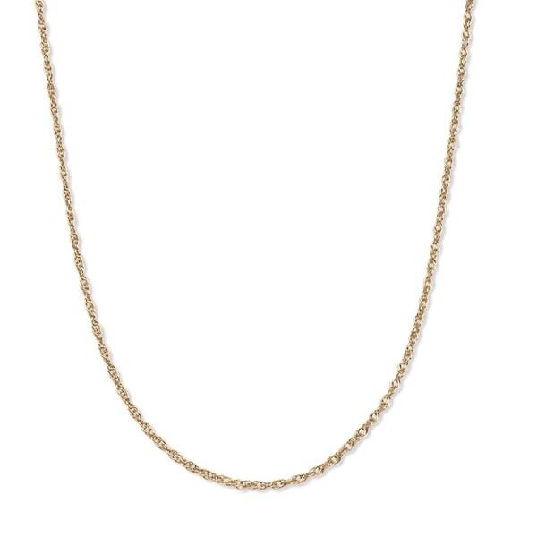 PalmBeach 14k Yellow Gold Unisex 18-inch Rope Chain Tailored
