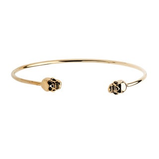 PalmBeach 14k Yellow Gold Skull Cuff Bracelet Tailored