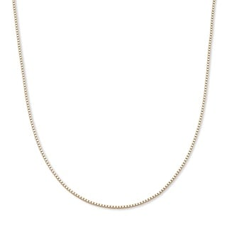 PalmBeach 10k Yellow Gold Unisex 20-inch Venetian Box Chain Necklace Tailored