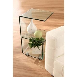 Trek Clear Glass Side Table