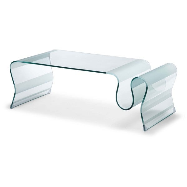 Discovery Clear Glass Coffee Table
