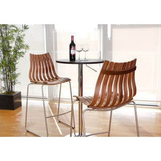 Congo Wood Contemporary Barstool