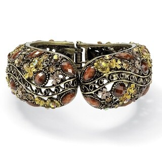 Lillith Star Antiqued Crystal Hinged Cuff Bracelet
