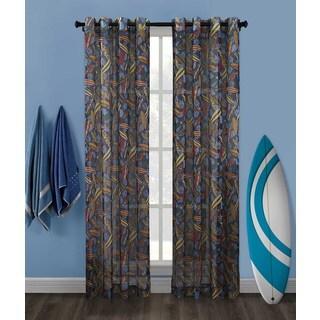 Surf Up Mesh Grommet Top Curtain Panel