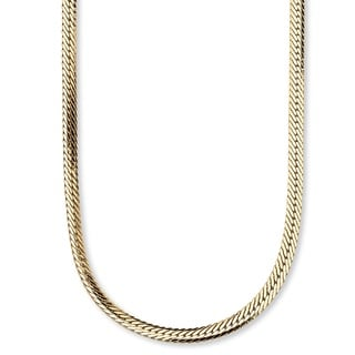 PalmBeach Yellow Goldtone Unisex Herringbone 20-inch Chain Tailored