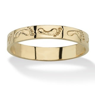 Toscana Collection 10k Gold Footprints Fashion Ring