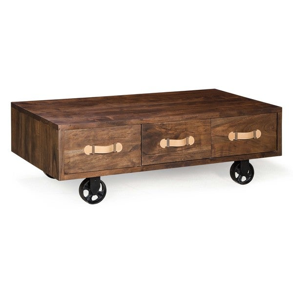 Oaktown Distressed Walnut Low Table