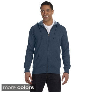 Men's Organic / Recycled Heathered Full-Zip 7-ounce Hood