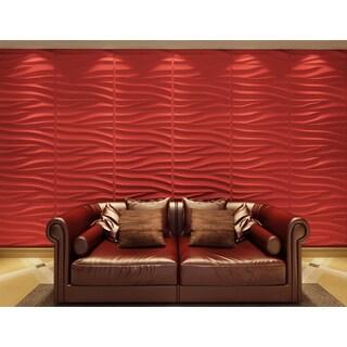 3D Wall Panels Plant Fiber Sands Design (6 Panels Per Box)