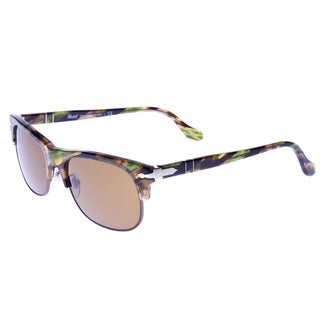 Persol Women's PO3034S-97433-56 Cropped Frame Brown and Green Sunglasses