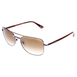 Persol Women's PO2420S-99751-56 Square Cornered Aviator Brown Sunglasses