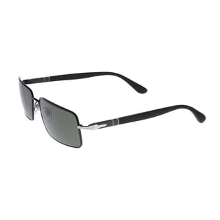Persol Women's PO2408S-102231-58 Square Lens Aviator Black Sunglasses