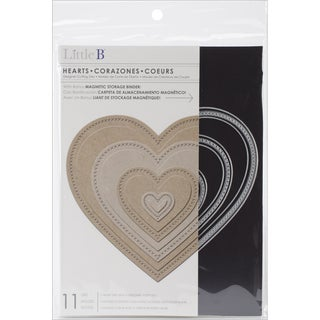 Little B Cutting Die-Hearts, 11/Pkg, .75in-5.5in
