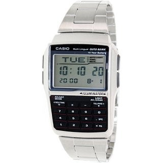 Casio Men's DBC32D-1A Silvertone Stainless Steel Quartz Watch with Grey Dial