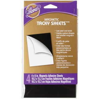 Aleene's Magnetic Tacky Sheets 4inX6in 4/Pkg