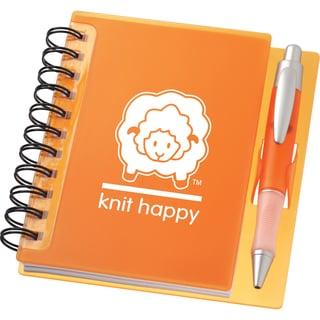 Knit Happy Idea Notebook 6.25inX5.75in-Orange