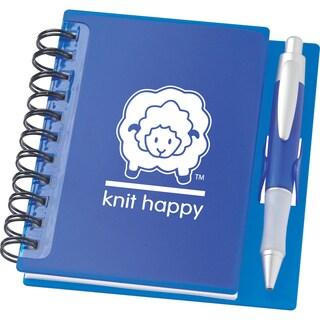 Knit Happy Idea Notebook 6.25inX5.75in-Sapphire