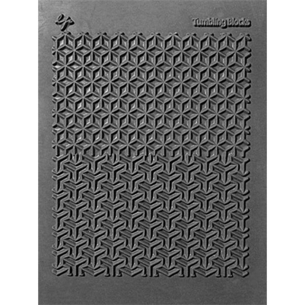 Lisa Pavelka Individual Texture Stamp 4.25inX5.5in 1/Pkg-Tumbling Blocks