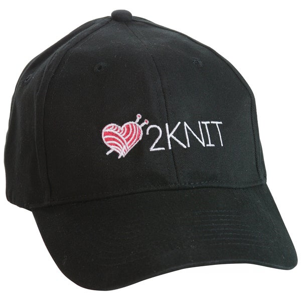Love 2knit Baseball Cap-Black