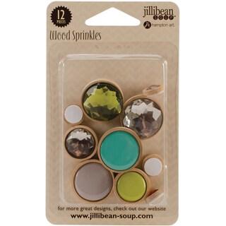Wood Sprinkles Self-Adhesive Embellishments 12/Pkg-Life