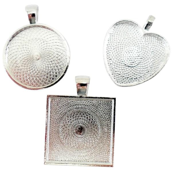 Lisa Pavelka Craft Bezel Set 3/Pkg-1 Heart, 1 Square And 1 Round