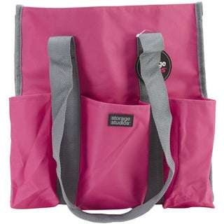Storage Studios Shoulder Tote-6inX14inX14.5in Pink & Gray